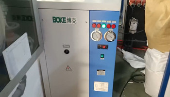 三台用于注塑机模具冷却用风冷式冷水机安装调试完毕